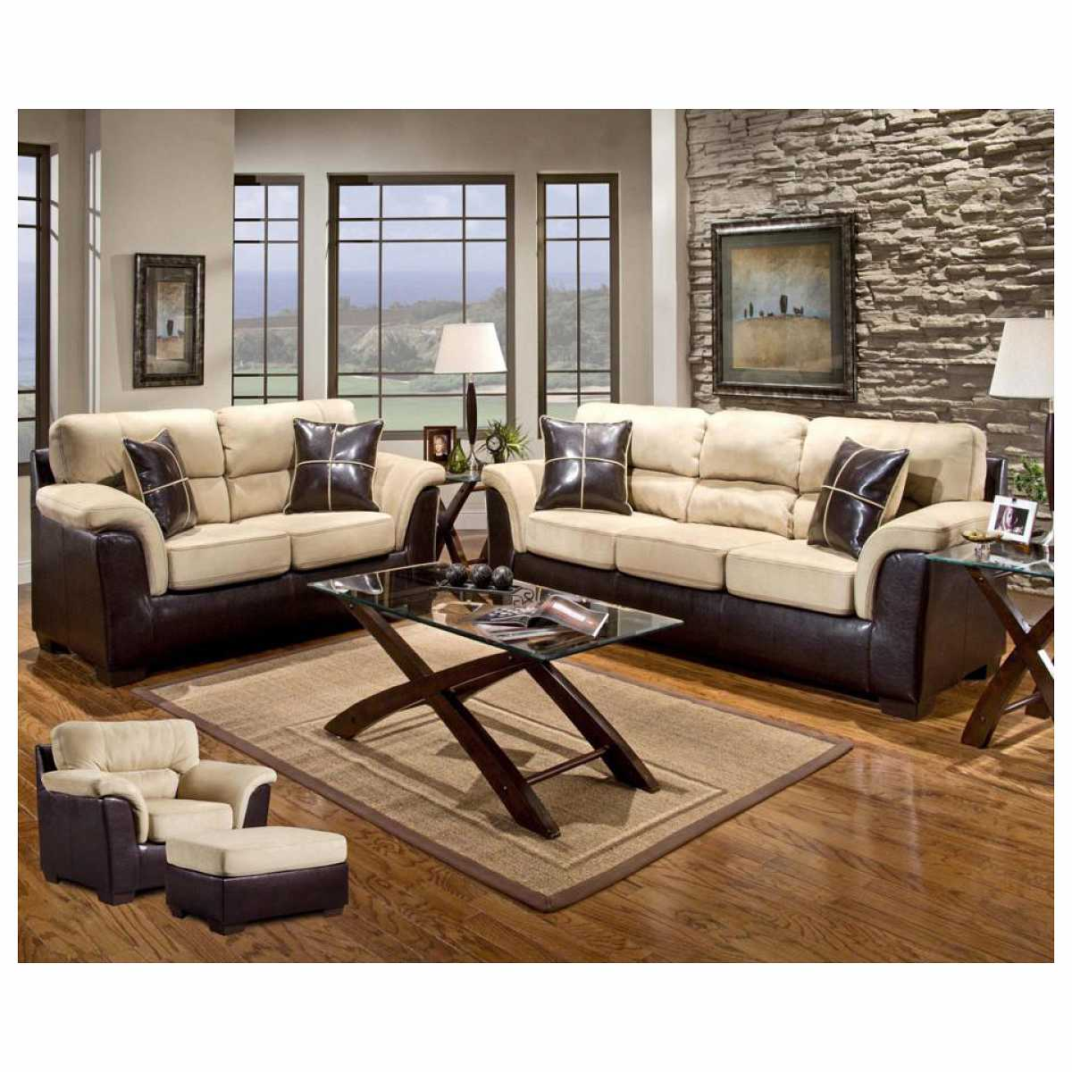 Chelsea home furniture chelsea home annabelle 7 piece for 7 piece living room furniture sets