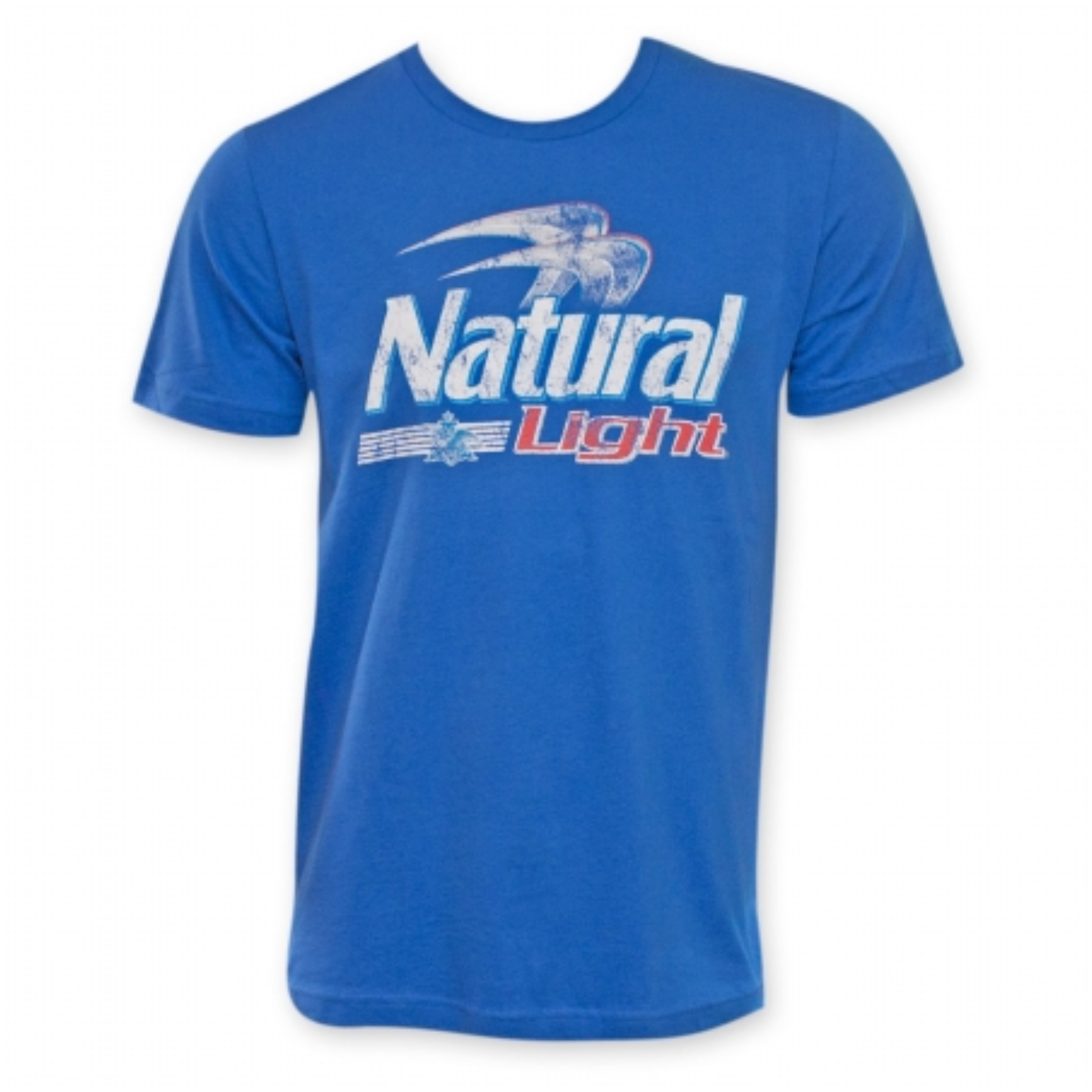 Natural light 24273xl mens blue logo t shirt extra large Light blue t shirt mens