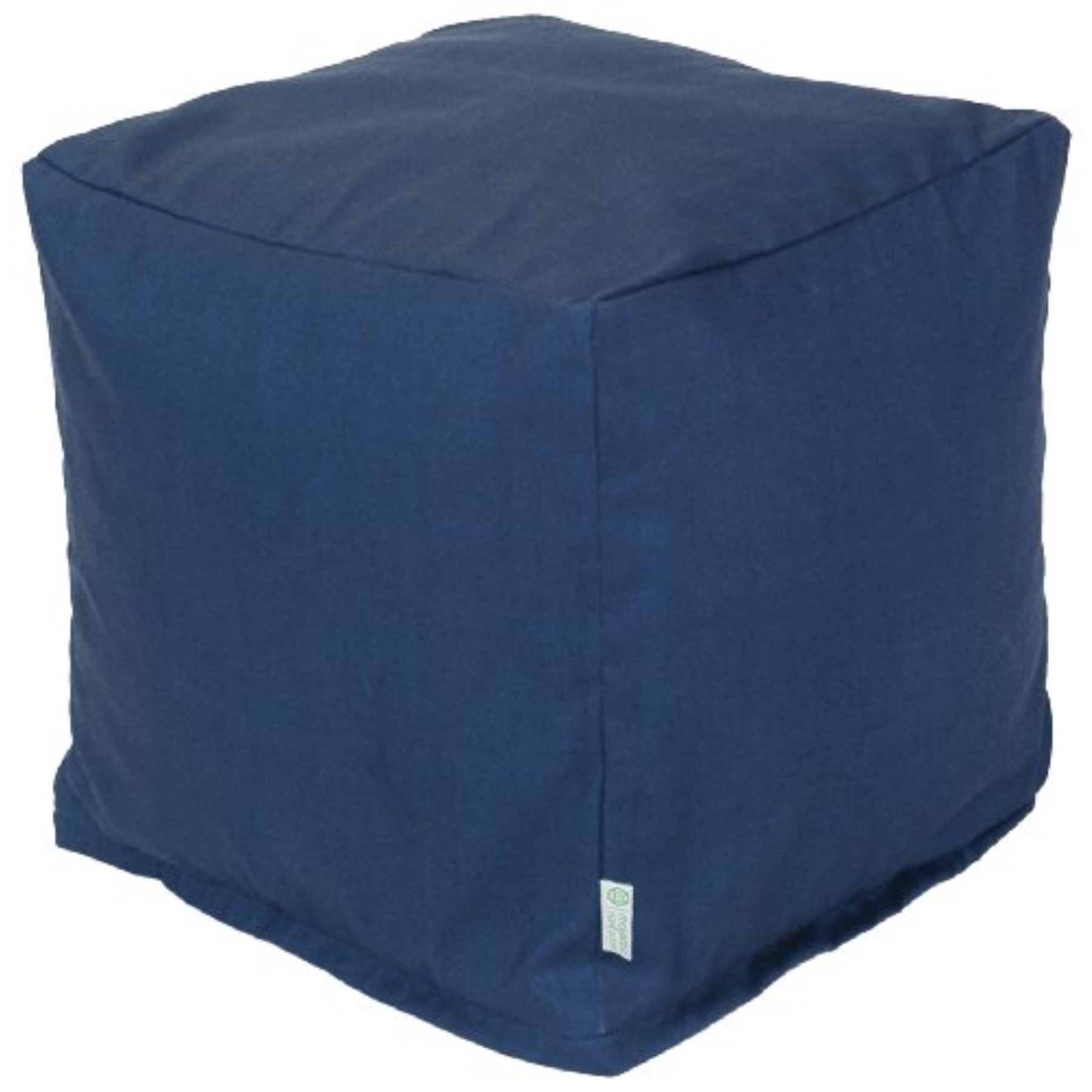 Majestic Home Navy Blue Solid Small Cube  Pricefalls com