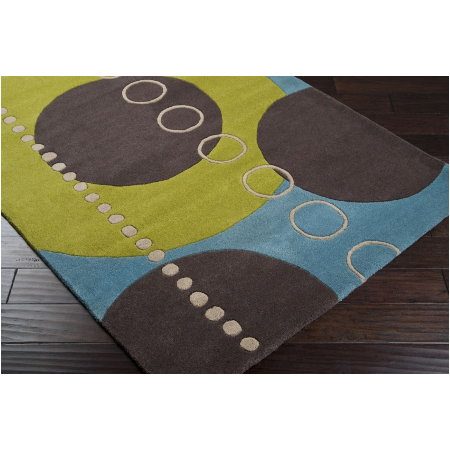 Surya Surya Forum Sky-Apple Green Rectangle 4'X6' Area Rug